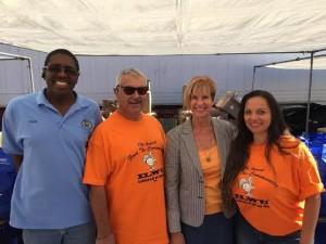 L-R: Chris Bradley (Local 63 Member), Richard Finlay (Local 63 Secretary), Congresswoman Janice Hahn Maureen Gutierrez (Local 63 Day Business Agent)