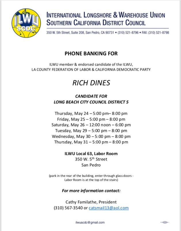 Rich Dines Phone Banking