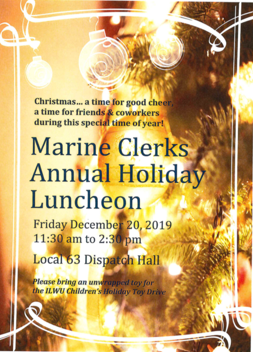Local 63 Holiday Luncheon